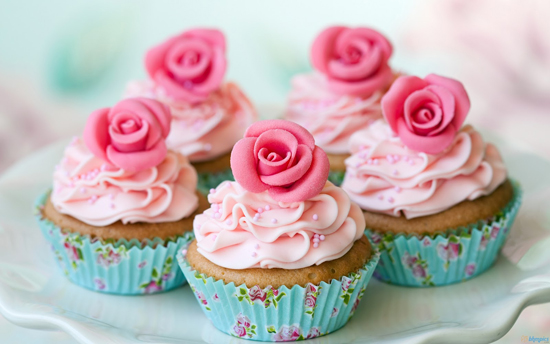 cupcake alle rose