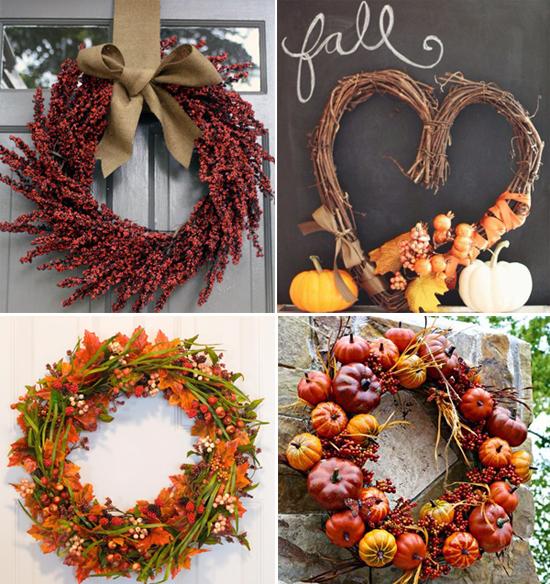 Diy come realizzare una ghirlanda autunnale per decorare la porta di casa life and the city - Ghirlande per porte natalizie ...