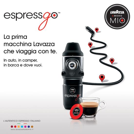 Lavazza presenta espressgo la macchina da caff per auto - Macchina caffe lavazza in black ...