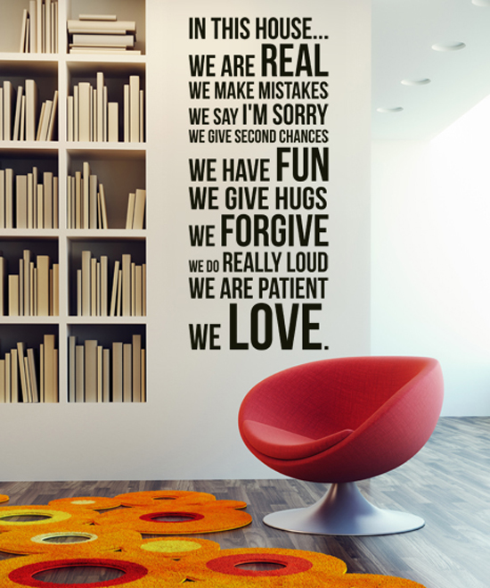 Wall sticker evergreen orange il mio adesivo murale che for Adesivi per muro