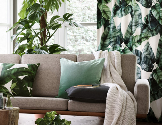 Tropical-draperies-and-pillow-from-HM-Home
